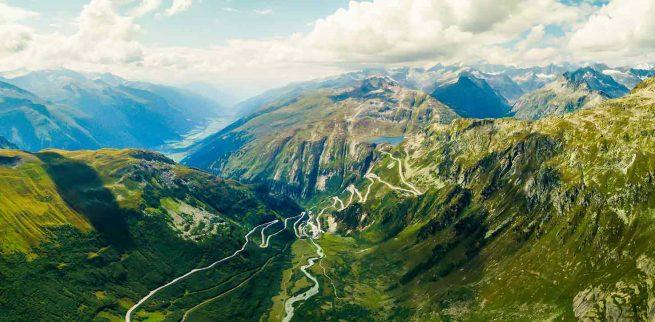 Puertos de los alpes suizos en bici