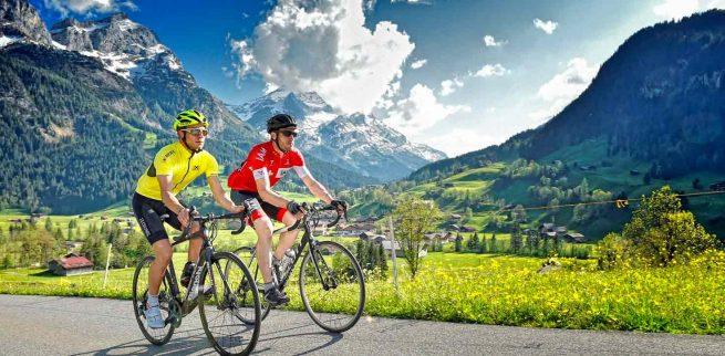 Cicloturismo en Suiza - alpes