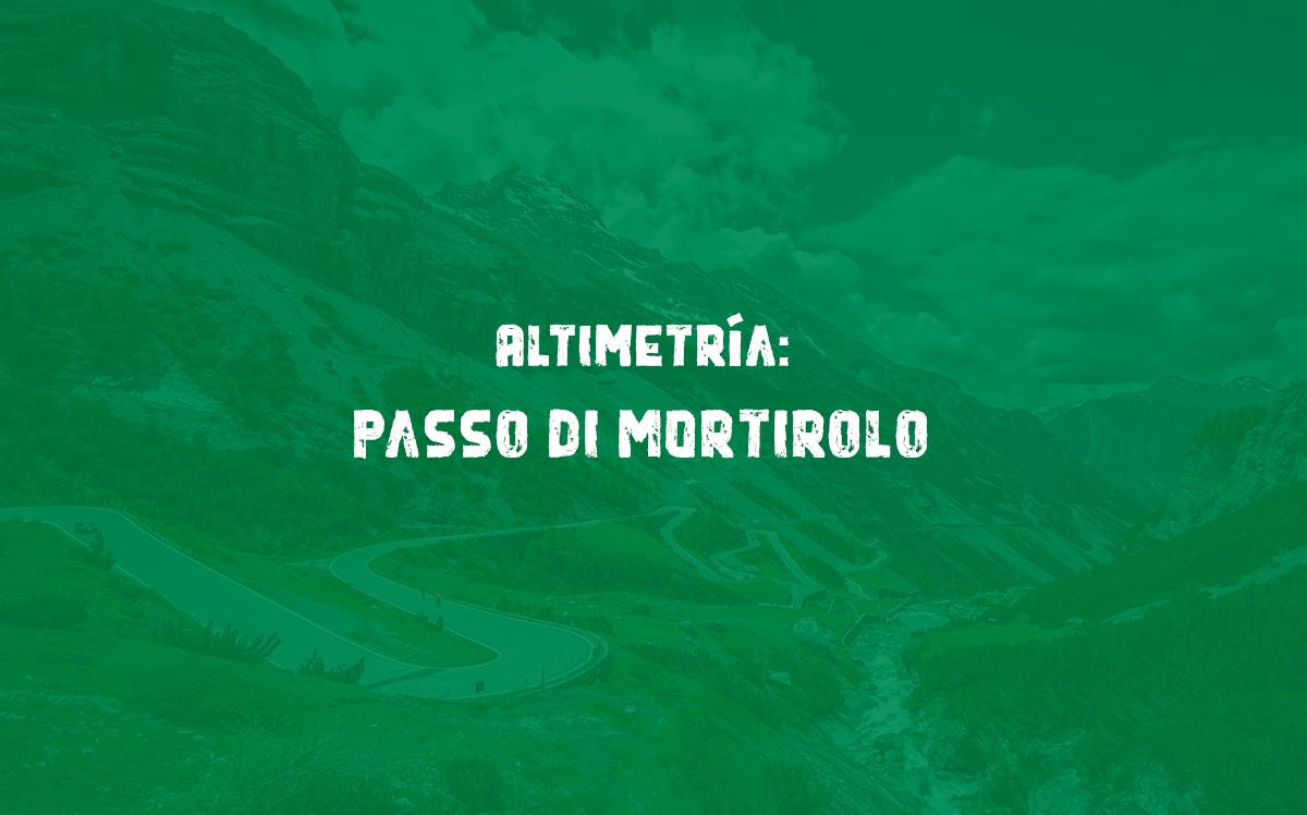Passo di Mortirolo - Altimetría y perfil