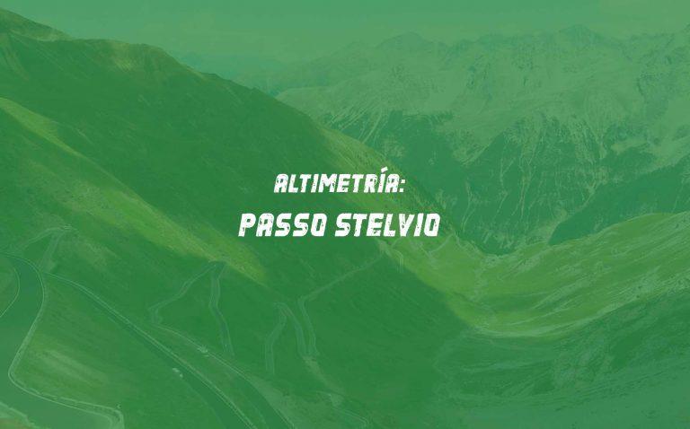 Altimetría del Passo Stelvio en Dolomitas