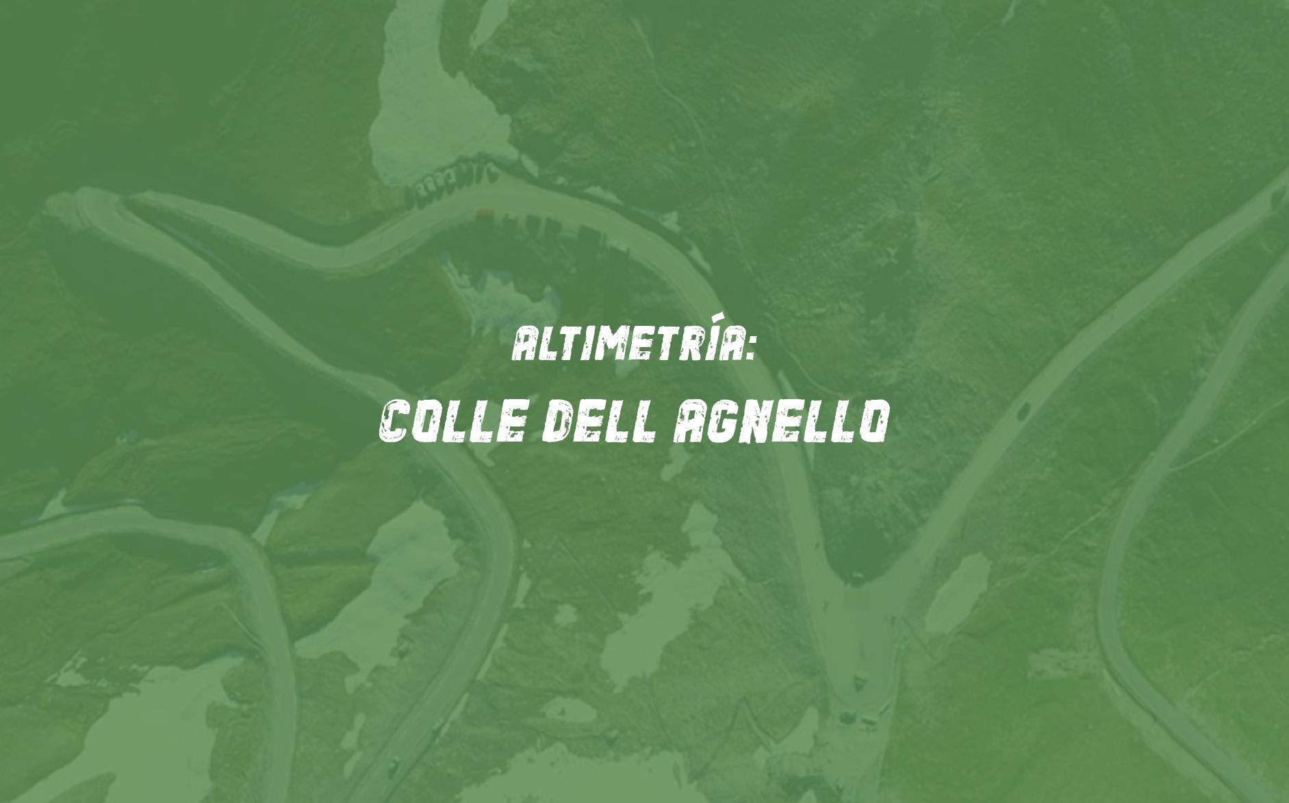 Altimetría ciclista de Colle dell Agnello